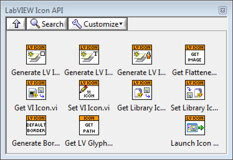 LabVIEW Icon API - Hidden Gem palette