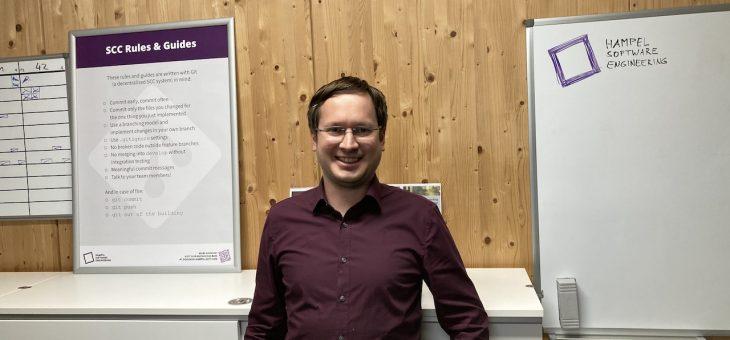 Alexander Elbert joins #teamhampelsoft